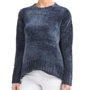Philosophy Chenille crew neck sweater navy